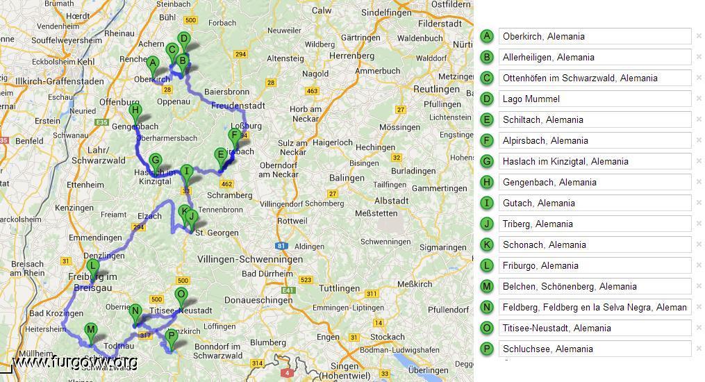 Mapa de Eurail con los tiempos de viaje