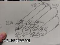esquema deposito agua tubos de PVC