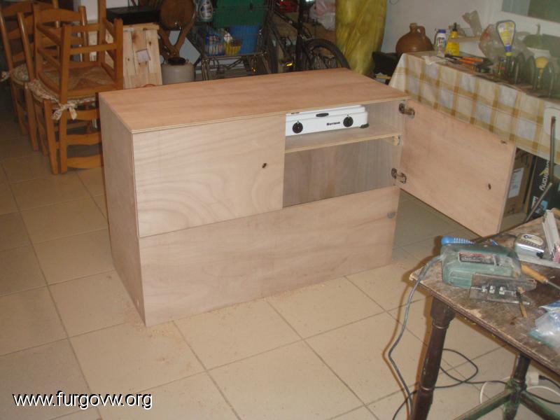Mueble cocina y almacenaje vw t5 for Mueble almacenaje cocina