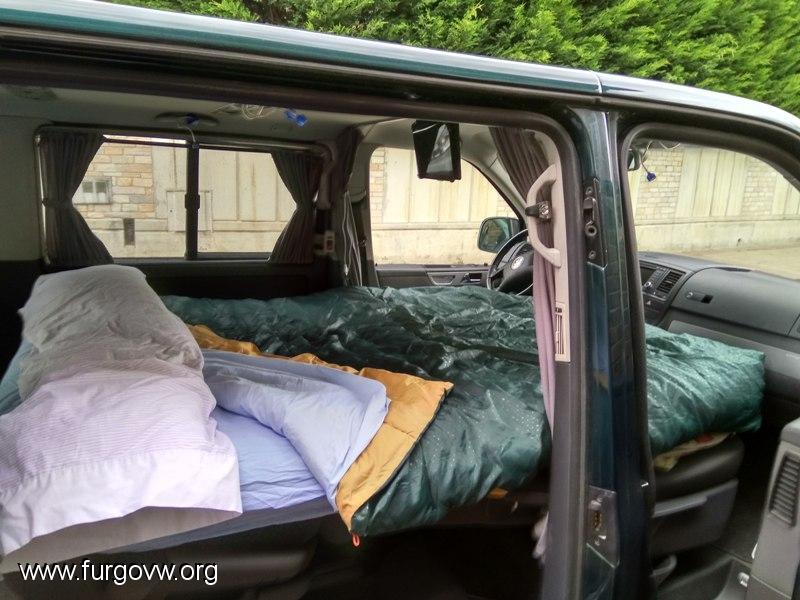 Como camperizar una T5 Multivan con cama, ducha y baño interior
