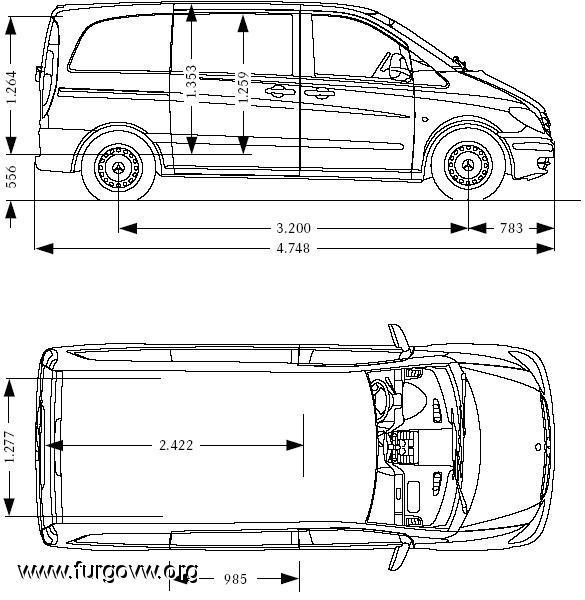 Vito vans club - Medidas interiores furgonetas ...