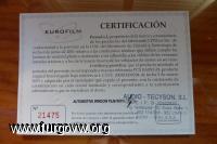 certificado tintado lunas