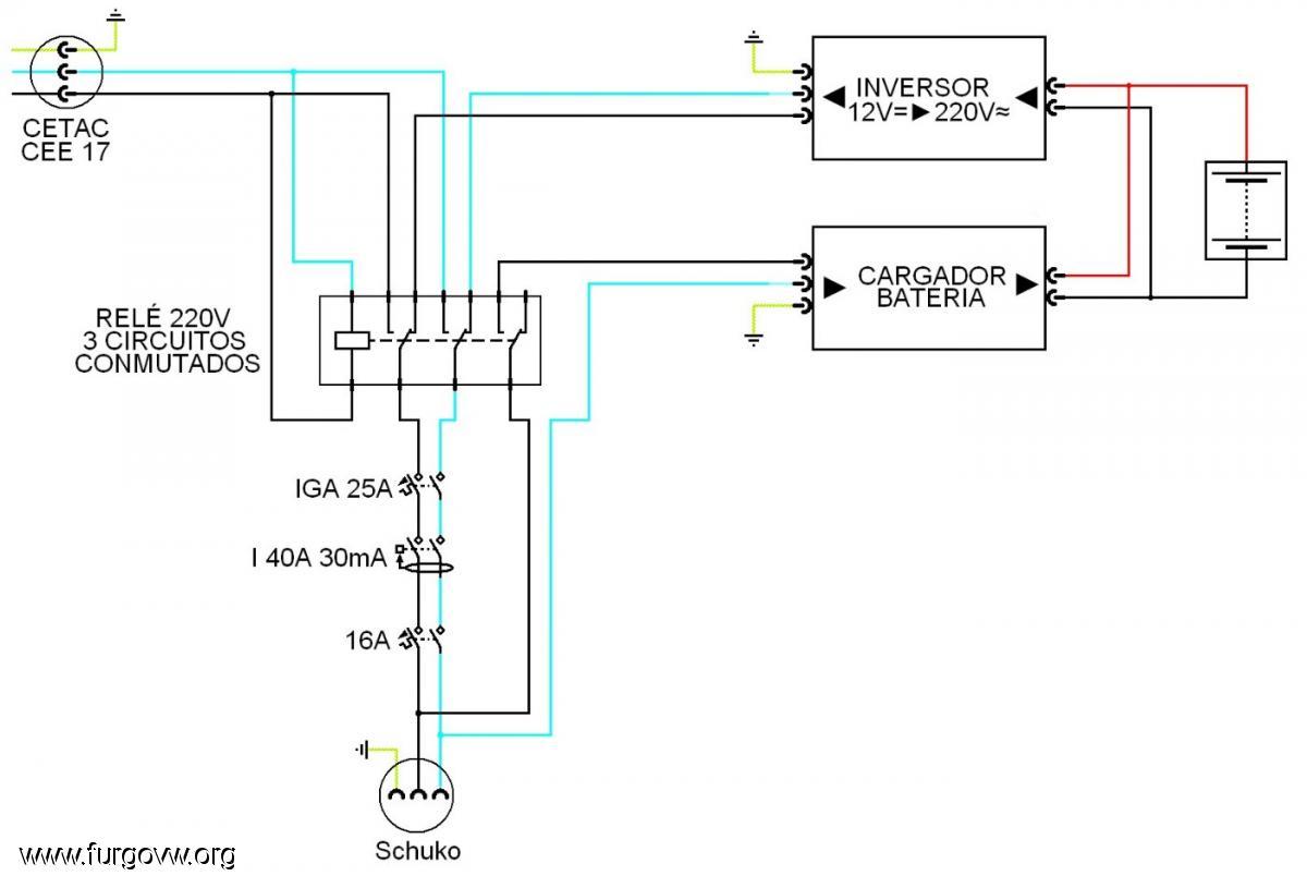 Instalaci n 220v con rel de prioridad - Inversor de corriente ...