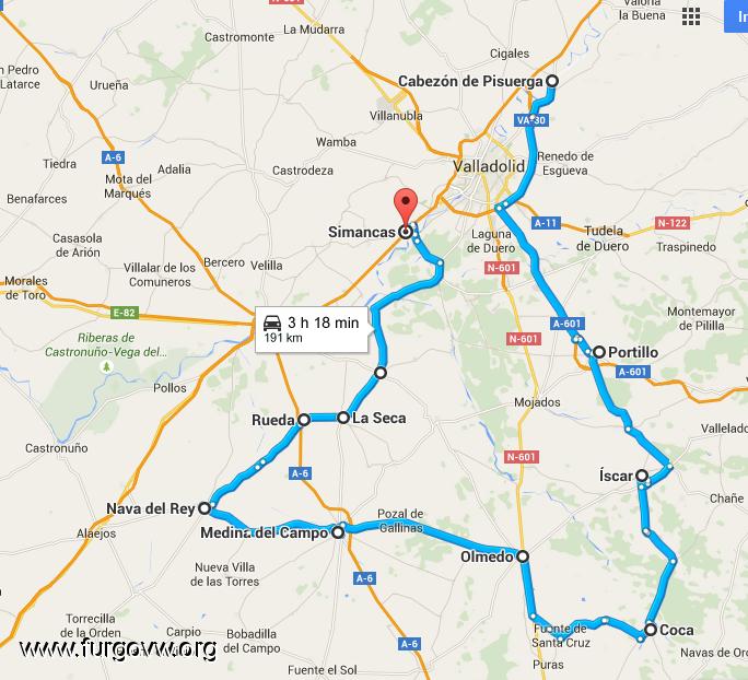 Castilla y leon peque a ruta provincia valladolid y segovia - Autovia segovia valladolid ...