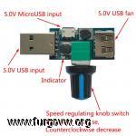 Regulador ventilador usb