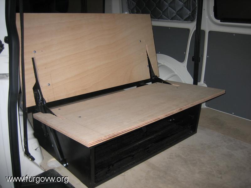 Armazon asiento cama en t5