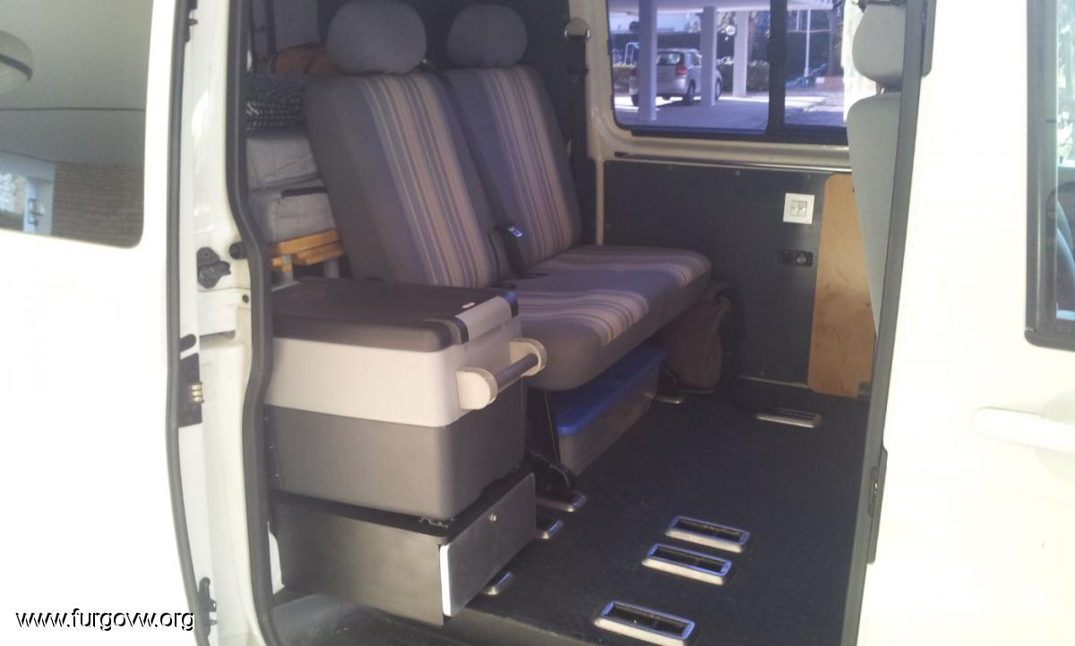 Mueble para nevera con mesita auxiliar para transporter t5 - Mueble para nevera ...