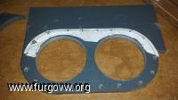 Placa PVC casi cortada