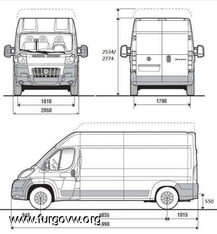 Se puede borrar vendida rebajada citroen jumper l3h2 - Medidas interiores furgonetas ...