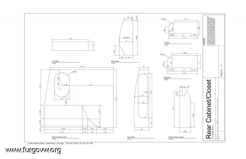 medidas planos mueble lateral y muebles de bricos vw y
