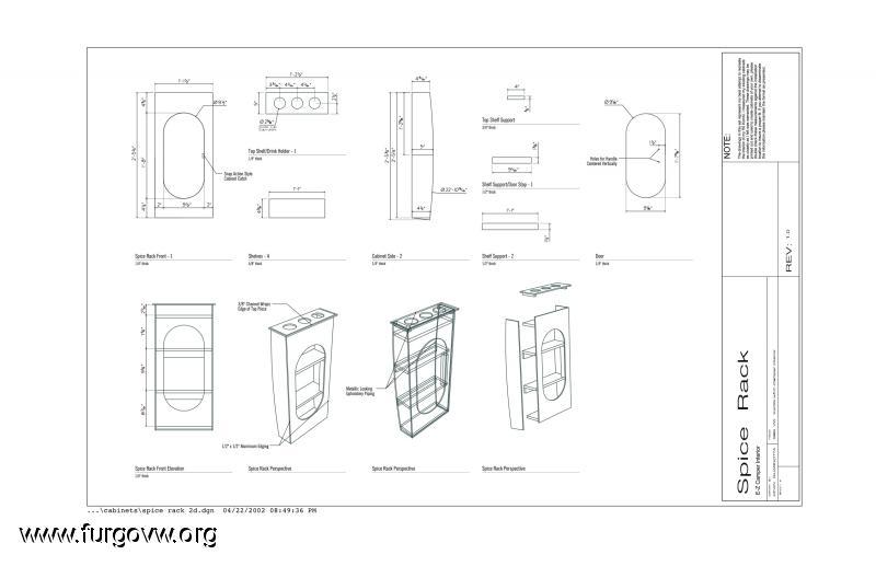 Medidas planos mueble lateral y muebles de bricos vw y for Muebles de cocina planos pdf