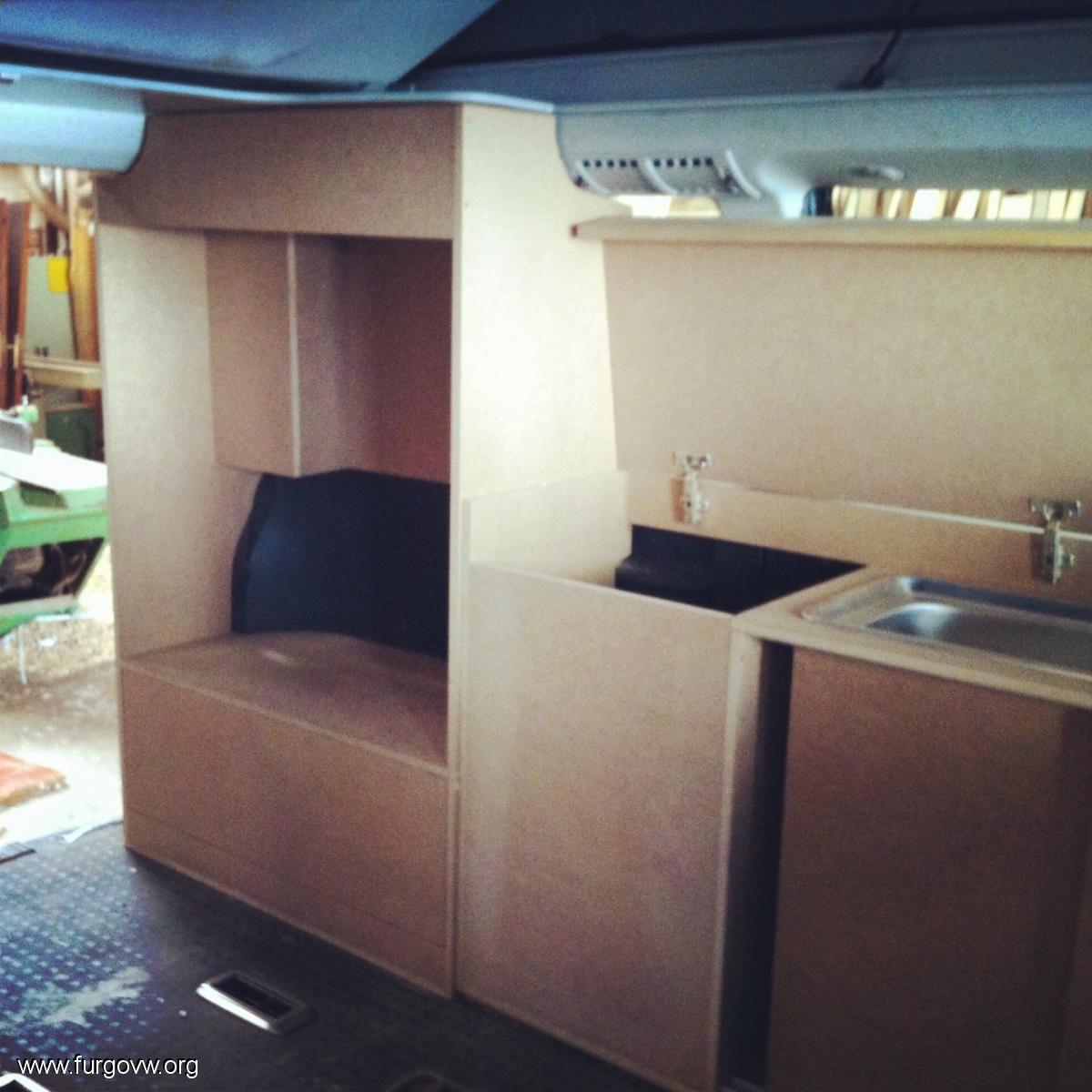 Fabricaci N Mueble Vw T5 Tipo California # Muebles California