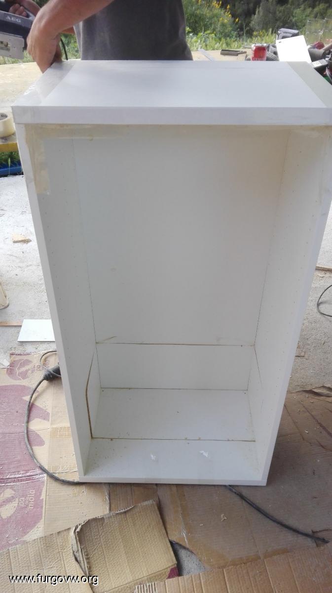 Sofá-cama ikea LYCKSELE adaptación para Vito con muebles laterales